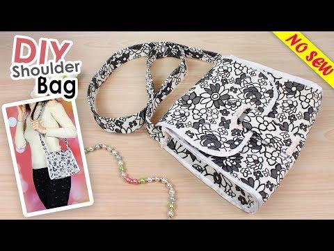 DIY SHOULDER BAG SO CUTE NO SEW TUTORIAL VERY EASY SUMMER PURSE BAG IDEA 2018