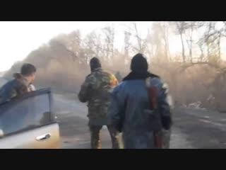 Донбасс. Бойцы ВСУ съехали в кювет на БМП