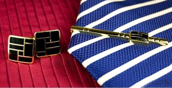 Эксклюзивный набор: запонки и зажим для галстука