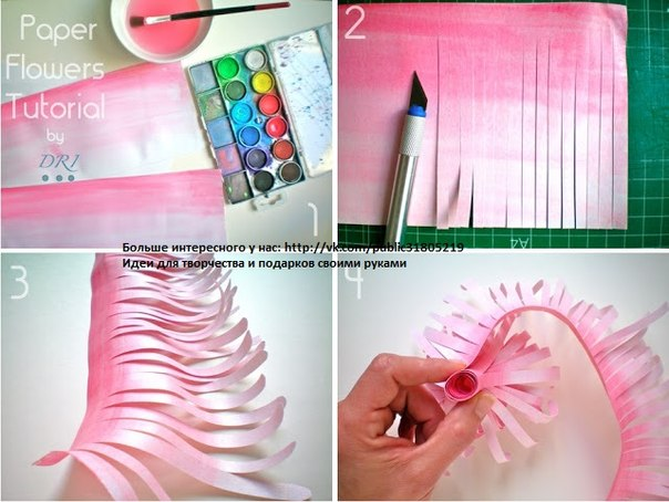 Как сделать своими руками из бумаги цветок с конфетой