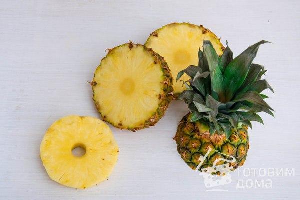 """Праздничная закуска """"Креветки с ананасом на шпажках"""""""