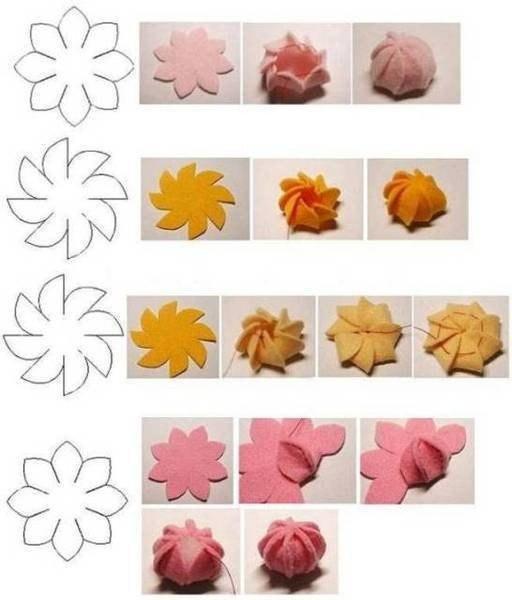 Цветы из фетра #валяние - Бугл ньюс