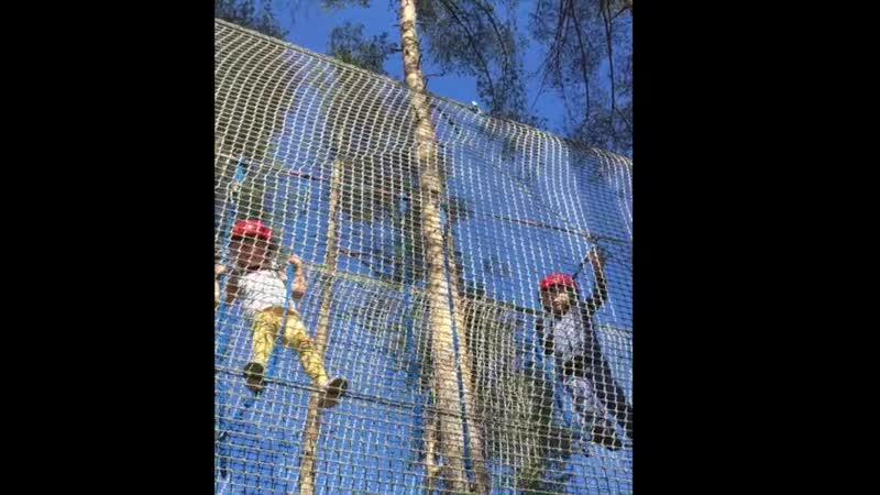 Веревочная тропа в Охто-Парке для самых маленьких
