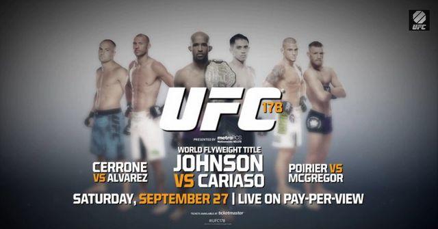 UFC 178 видео всех боев