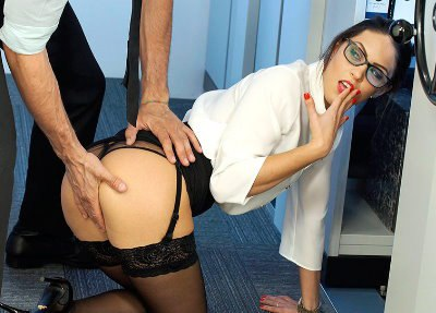 Teen Lawyer Carolina Abril Takes it From Behind in the Office