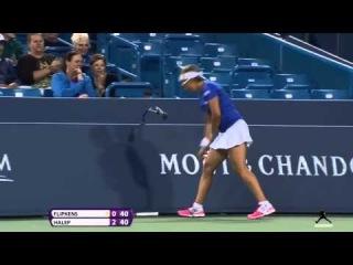 Hot Shot by Simona Halep | vs Kirsten Flipkens || Cincinnati Open 2014