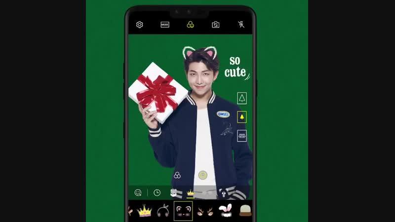 LG mobile global insta @BTS_twt Christmas RM, V and Suga