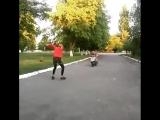 Прыжок через скутер