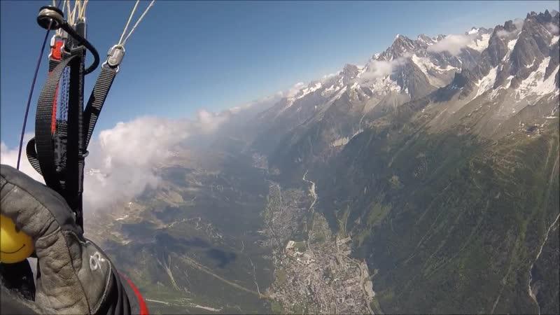 АЛЬПИНИСТ Paragliding off Mont Blanc du Tacul