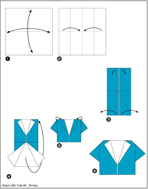 Рубашка из денег схема галстука