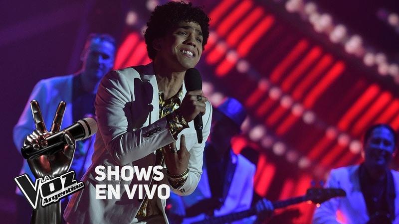 Shows en vivo TeamTini Juan Nieves canta El cantante de Andrés Calamaro - La Voz Argentina 2018