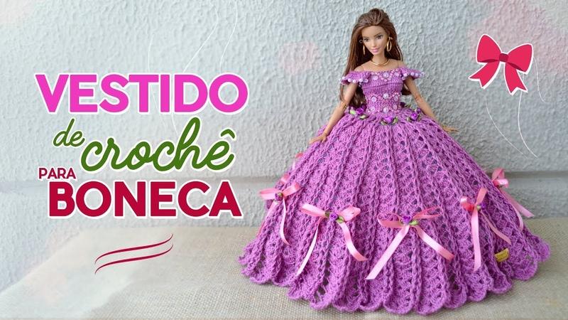 Vestido de crochê para bonecas | Raquel Gaúcha