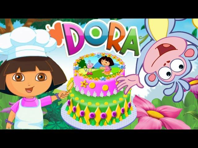 Даша путешественница готовит торт. Детский игровой мультфильм. Dora the Explorer