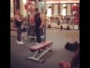 Video первый день в качалке качок спорт зал тренер фитнес