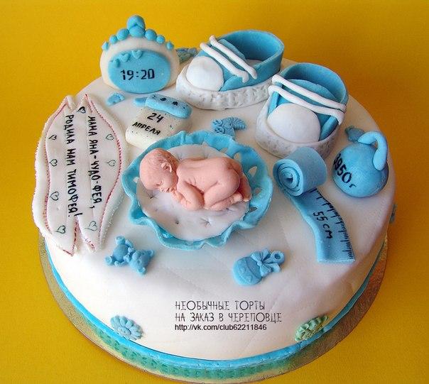 Торт на рождение мальчика фото