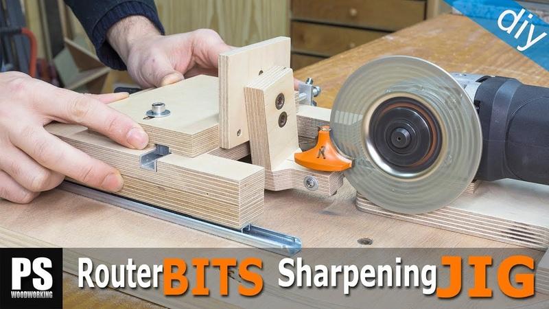 Homemade Router Bits Sharpening Jig