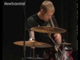 Cyborg drummer performs first live gig