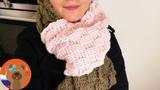 Мягкий шарф ХХХL на зиму с узором корзиночка DIY вязание крючком