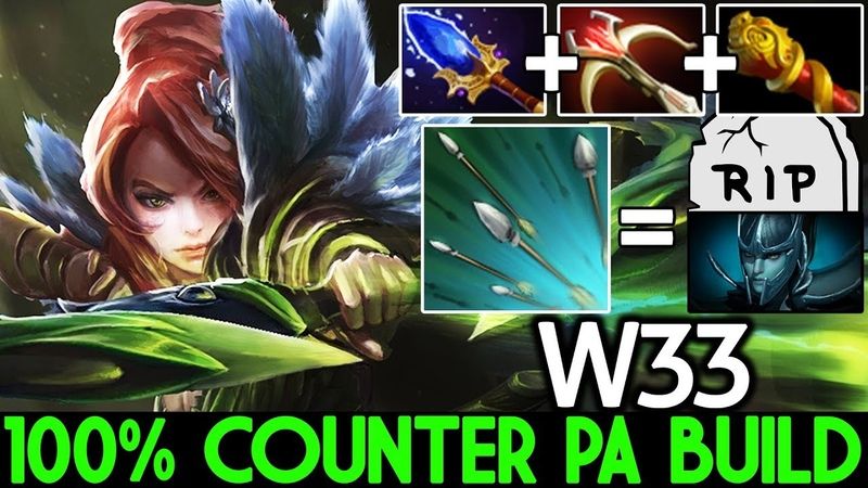 W33 [Windranger] 100% Counter PA Build Cancer Gameplay 7.20 Dota 2