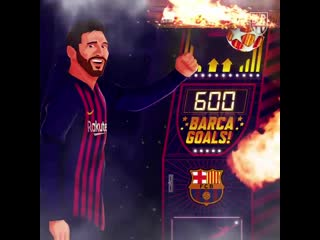 New. top. score. - - lionel messi brings up 600 goals for barcelona