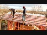 Строительство каркасного дома (ускоренное видео)