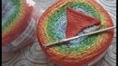 треугольник крючком СОЕДИНИТЕЛЬНЫЕ СТОЛБИКИ образец YarnArt FLOWERS slip stitch crochet