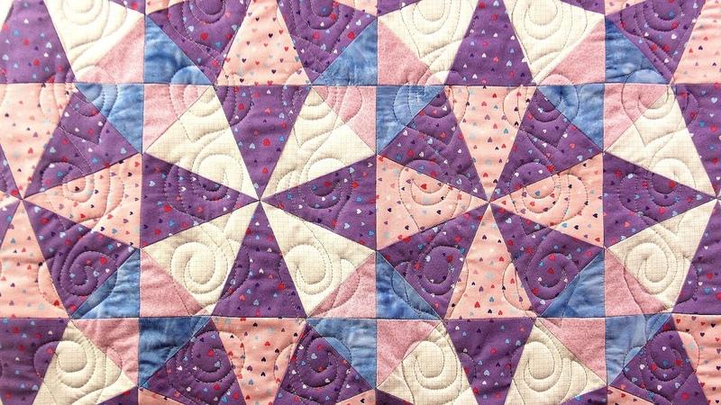 Лоскутное шитье, пэчворк - блок Калейдоскоп. МК по пошиву блока с использованием шаблона из бумаги
