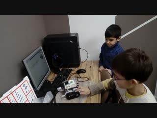 Выпускной по робототехнике Lego Mindstorm, Бабаев Ильяс и Донченко Никита