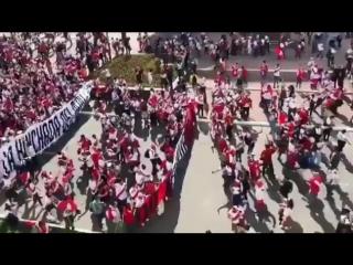В Саранске стартовал матч сборных Дании и Перу