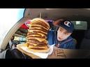 Гигантский чизбургер Бургер Кинг Вызов принят: 10 котлет бургер Burger King