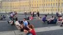 Puzzletrip - Питер-Дом! уличные музыканты играют на дворцовой