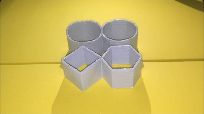 3D printed Ambiguous Cylinder Illusion - Hexagon and Square