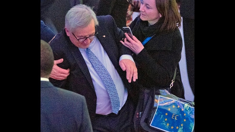 Jean Claude Juncker takes a tumble at EU Africa Summit But he's in full health EU says