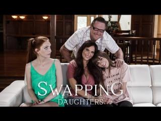 [PureTaboo] SWAPPING DAUGHTERS / Alex Blake, Syren De Mer.(ArtPorn,Brunette, Big Tits, Girl on Girl,Threesome,Teen, MILF)