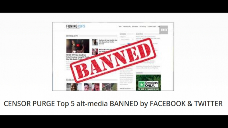 CENSOR PURGE Top 5 alt-media BANNED by FACEBOOK TWITTER