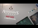 Assassins Creed- Maps SIZE Comparison (AC-3 AC-4 AC- Odyssey)