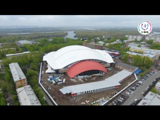 Видео_ стадион Енисей, вид сверху