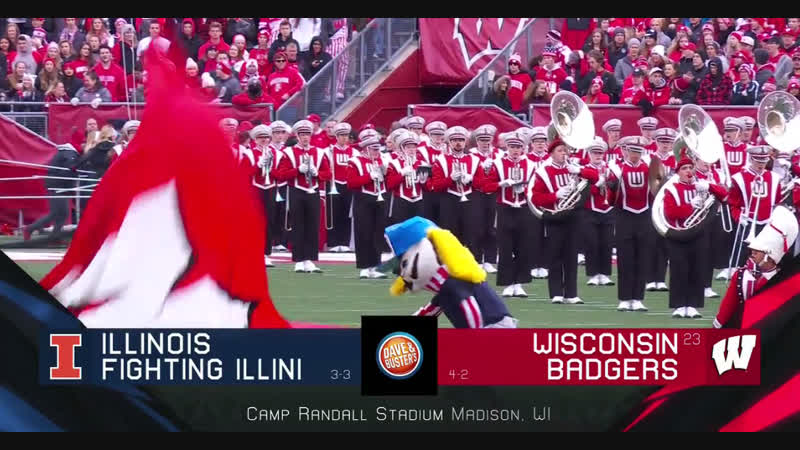 NCAAF 2018 Week 08 Illinois Fighting Illini 23 Wisconsin Badgers 1Н EN