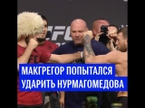 Макгрегор попытался ударить Нурмагомедова