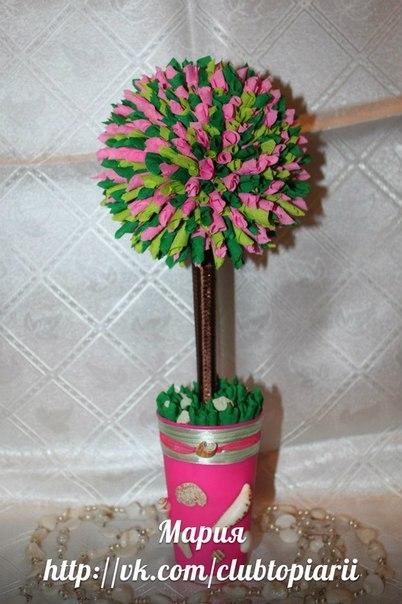 Топиарий дерево счастья своими
