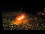 Прыжок через горящее препятсвие (Я на Вороне)