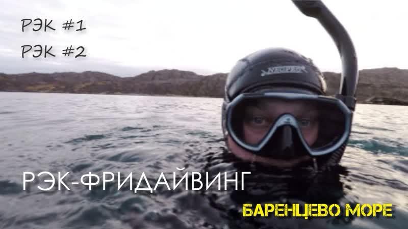 Фридайвинг на рэк №1, №2. Баренцево море, Кольский полуостров, п.Ура-губа