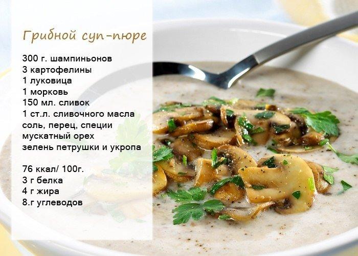 Суп пюре из шампиньонов без сливок рецепт