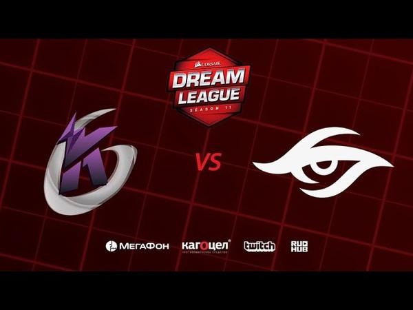 Keen Gaming vs Team Secret DreamLeague Season 11 Major bo3 game 2 Jam Maelstorm