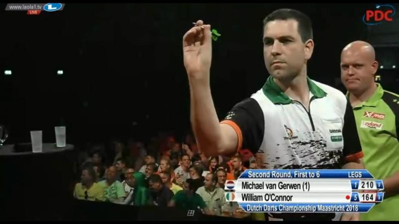 2018 Dutch Darts Championship Round 2 van Gerwen vs O'Connor