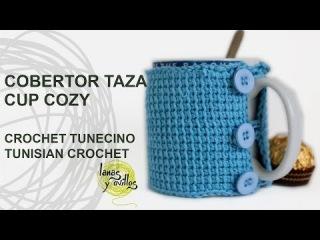 Tutorial Cobertor Tazas Crochet Tunecino Cup Cozy