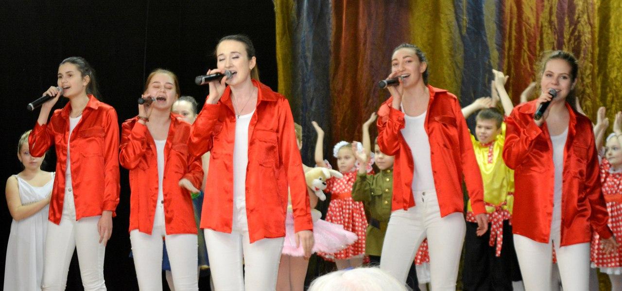 концерт для пенсионеров - поют школьники из ГБОУ СОШ №799