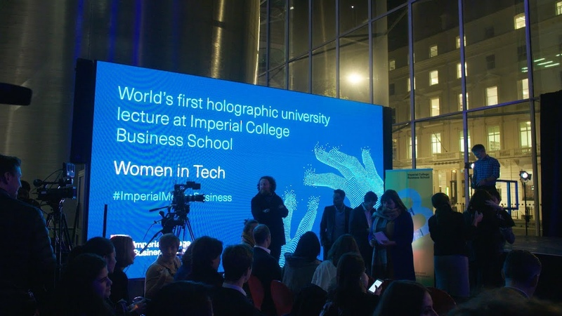 Worlds first holographic university lecture at Imperial College Business School