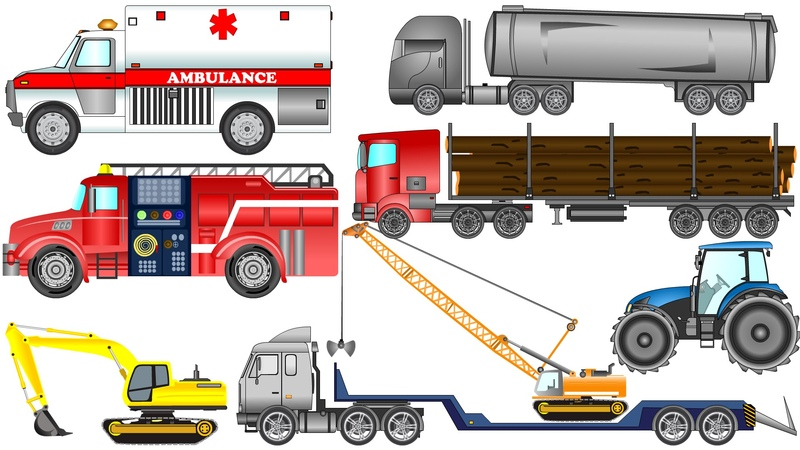 Street Vehicles for Kids with Cars and Ambulance | Learning Street Vehicles | Kids Videos