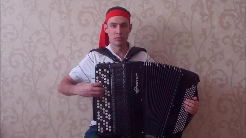Кунг фу из игры Денди на баяне _ kung fu game dandy on accordion